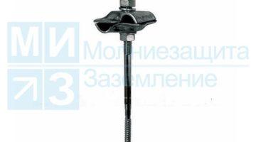Держатель-зажим соединительный круглого проводника 8-10 мм, оцинкованный