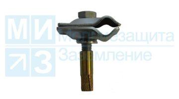 Держатель-зажим соединительный круглого проводника 8-10 на анкере 30 мм
