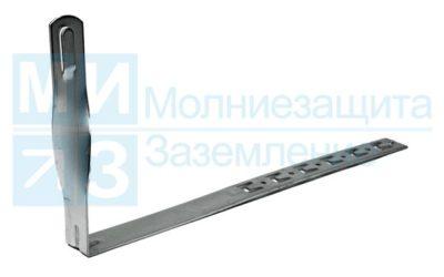 Держатель проводника круглого 6-10 мм  для черепичной кровли скрученный, оцинкованный