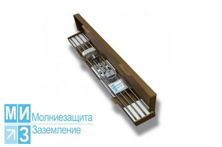 Комплект заземления оцинкованный 6 метров с насадкой SDS-max (1 х 6 м)