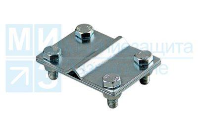 Зажим соединительный полоса/пруток-полоса, 2 пластины оцинкованный