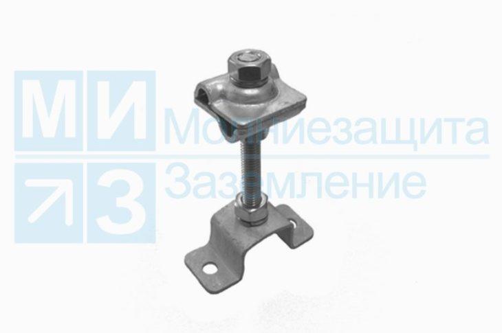 Держатель-зажим соединительный круглого проводника 8-10 мм опорный 100 мм, оцинк.