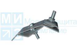 Держатель универсальный проводника круглого 8-10 мм для желоба водостока, оцинк.