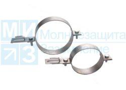 Держатель проводника круглого 6-10 мм для водосточных труб 100 мм, оцинк.