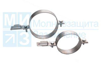 Держатель проводника круглого 6-10 мм для водосточных труб 80 мм, оцинк.