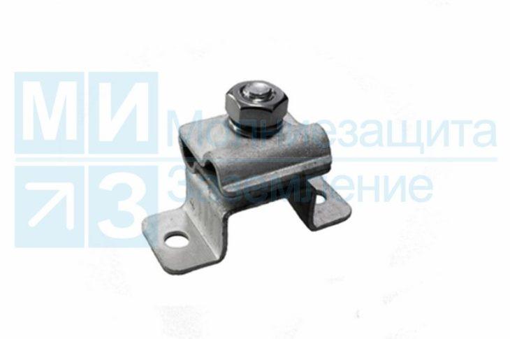 Держатель-зажим соединительный круглого проводника 8-10 мм опорный 25 мм, оцинк.