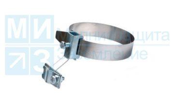 Держатель проводника круглого 8 -10 мм универсальный для 0-80 мм, лента нерж., оцинк.