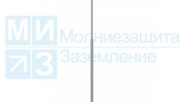 Мачта молниеприемная 8 м, алюм/нерж с растяжками (без основания)