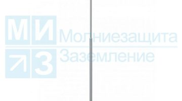 Мачта молниеприемная 9 м, алюм/нерж с растяжками (без основания)