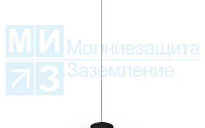 Молниеприемный стержень на бетонном основании 3,5м/40кг