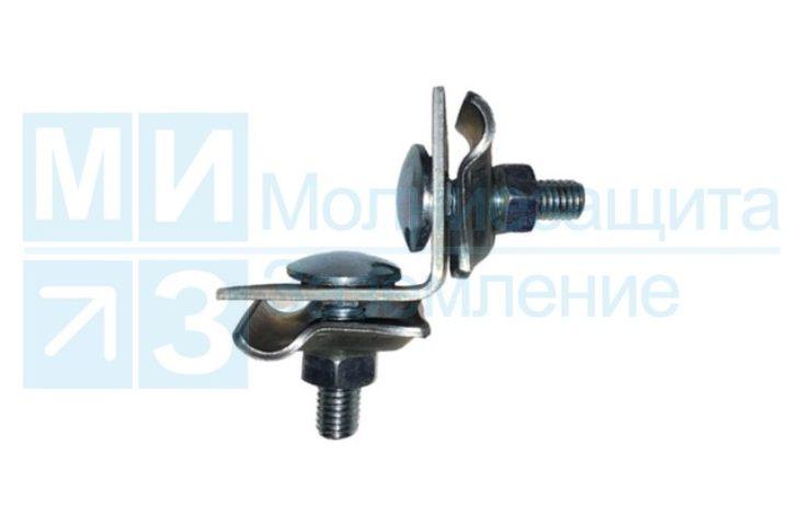 Держатель проводника круглого 8-10 мм для фальца, оцинкованный