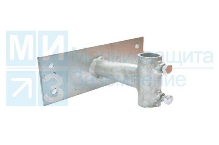 Держатель молниеприемной мачты d20 мм к стене, выносом 100 мм