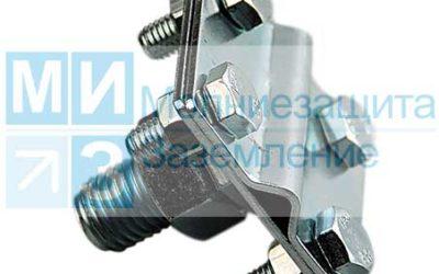 Зажим соединительный с резьбой М16, оцинк.